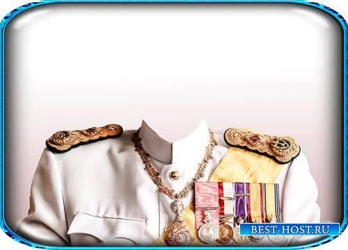 Шаблон фотошоп - Форма короля Тайланда