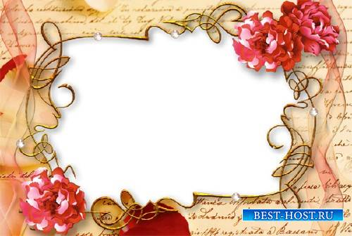 Фоторамка для фотошопа - Любовное письмо