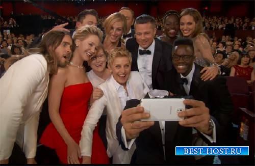 Photoshop шаблон - Селфи на вручении Оскара
