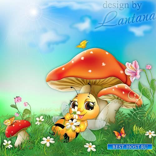 PSD исходник - Легла под грибок отдохнуть пчела