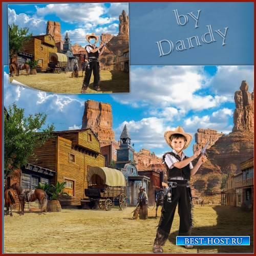 Шаблон для мальчика - Ковбой на Западе
