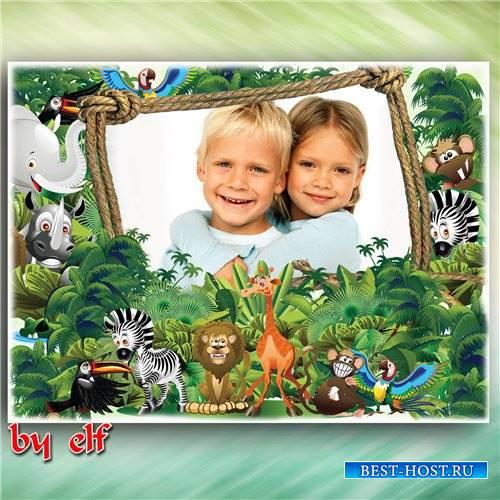 Детская рамка для фото - Джунгли
