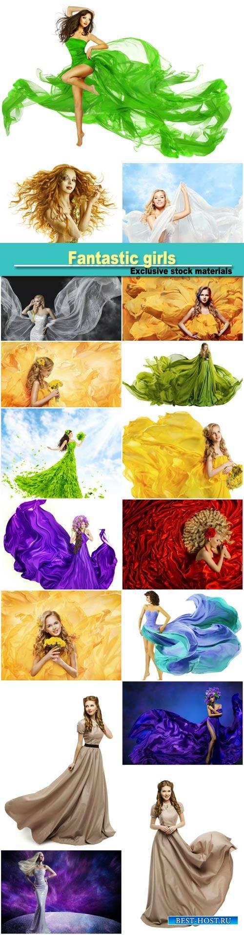 Fantastic girls in beautiful dresses