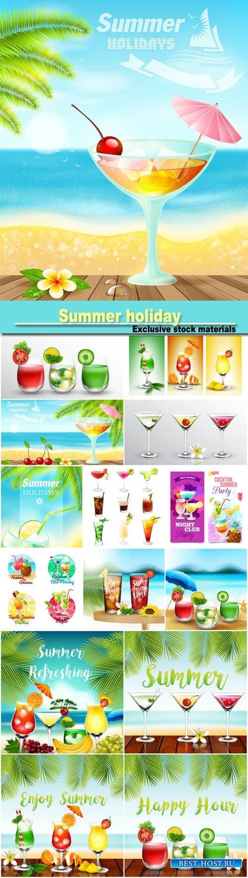 Summer holiday, cocktails, soft drinks