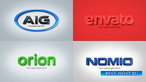 Сильный и чистый Корпоративный 3D тиснением логотипа - Project for After Ef ...