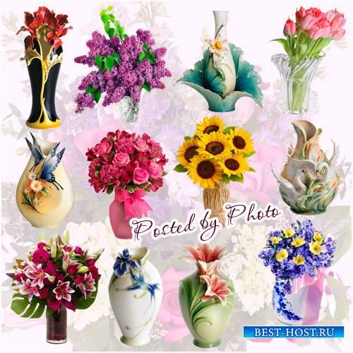 Клипарт на прозрачном фоне - Вазы,вазы с цветами