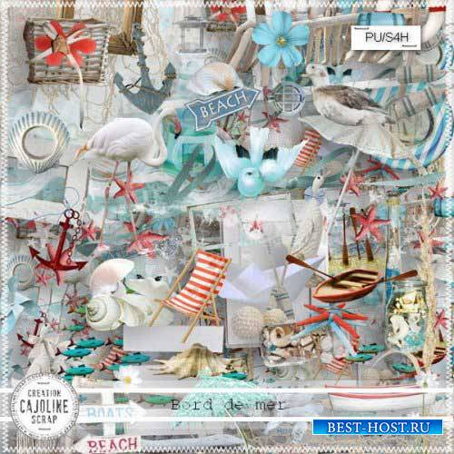 Морской скрап-комплект - На берегу моря