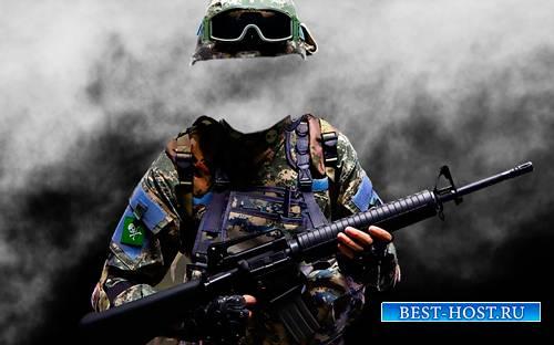 Psd шаблон - Молодой спецназовец