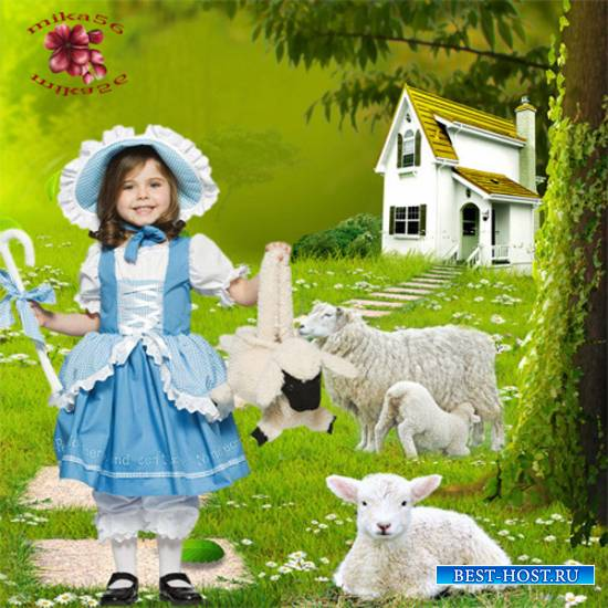 Шаблон  детский - Маленькая пастушка