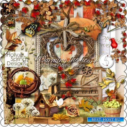Осенний скрап-комплект - Согревая сердца