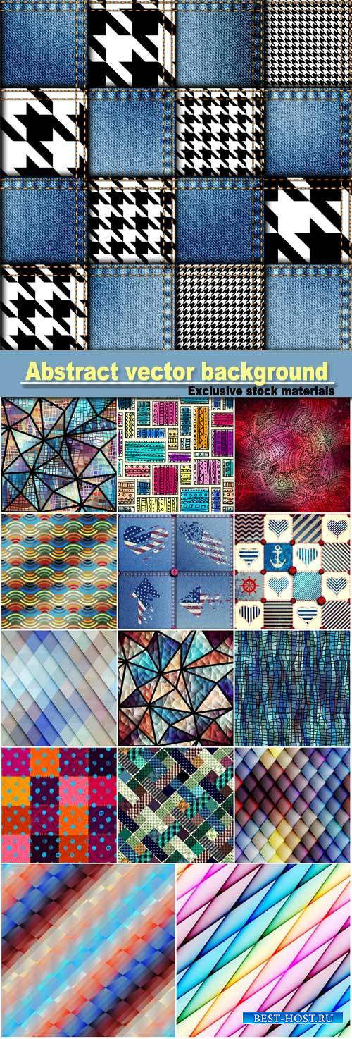 Abstract vector background, seamless texture