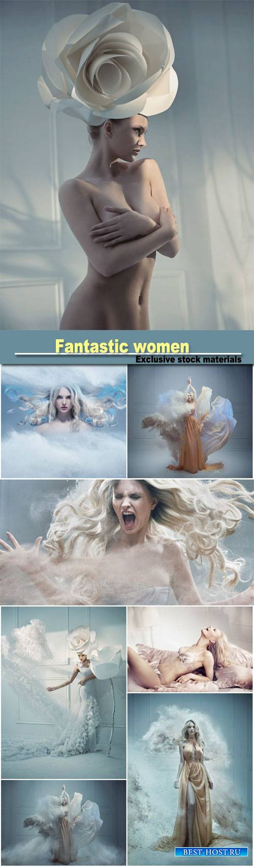 Fantastic women in different images