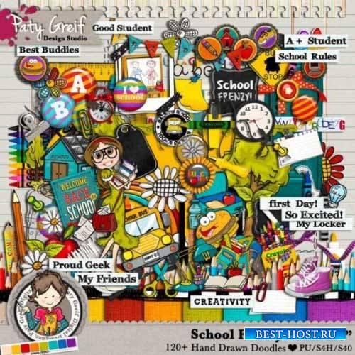 Школьный скрап-набор - Школьное безумие