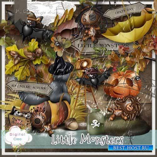Осенний хэллоуин скрап-набор - Маленькие монстры