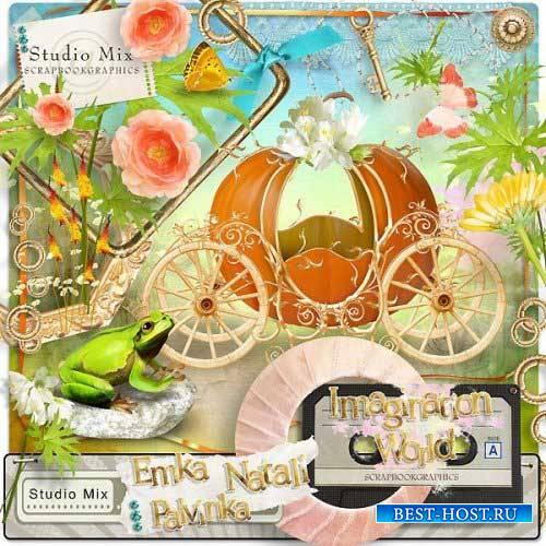 Яркий цветочный скрап-комплект - Фантазия мира