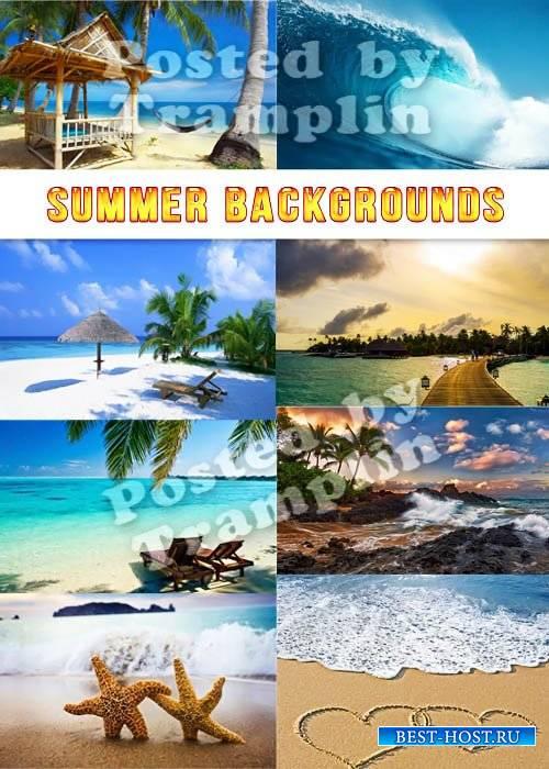 Летние фоны - Пляжи, море, песок, солнце