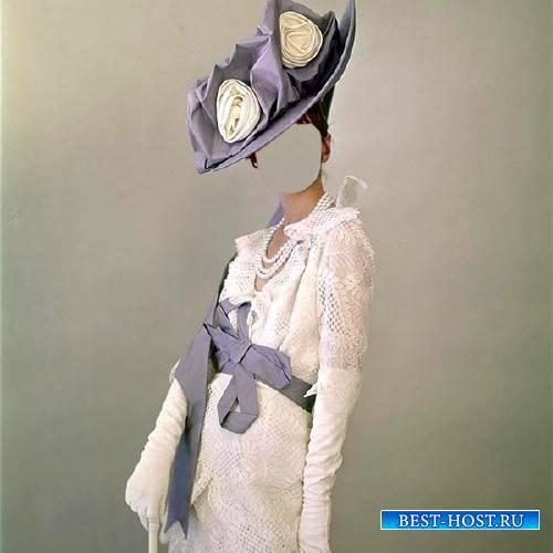 Шаблон для Photoshop - Дама в шляпке
