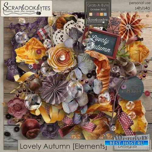 Осенний винтажный скрап-набор - Прекрасная осень