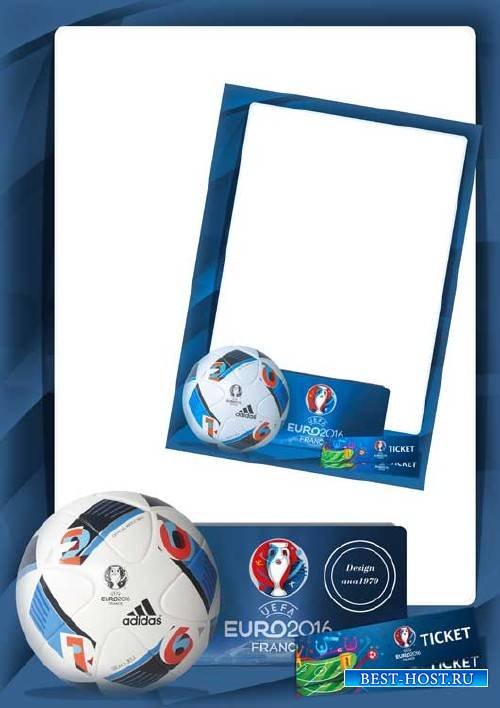 Рамка для фотошопа – Евро 2016