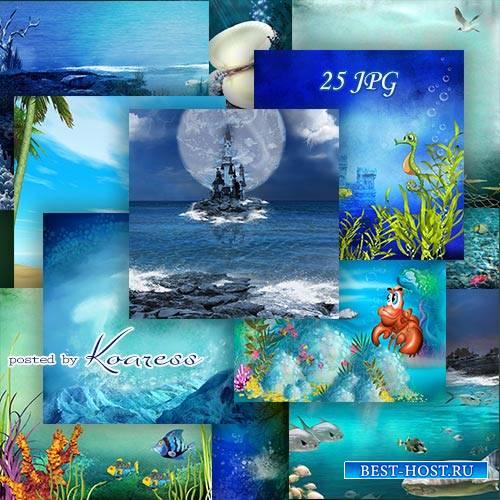 Фоны для дизайна - Загадочное море