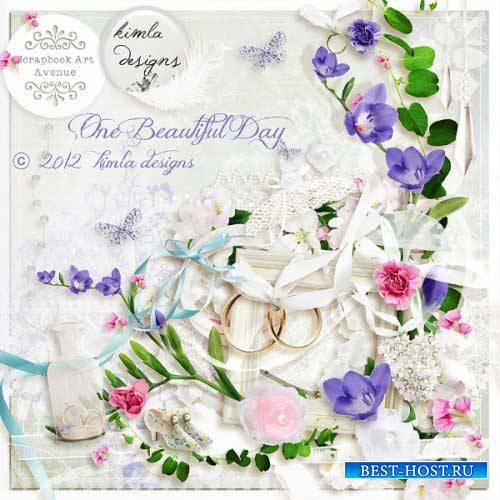 Нежный свадебный скрап-набор - Один прекрасный день