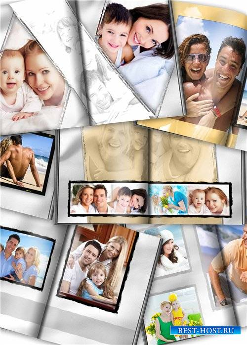 Семейная фотокнига для фотошопа
