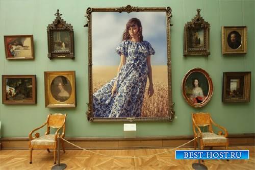 Рамка psd - Ваша картина в галерее