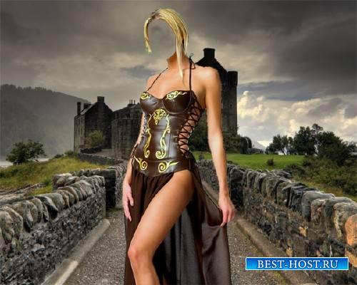Шаблон для девушек - Девушка из средневековья