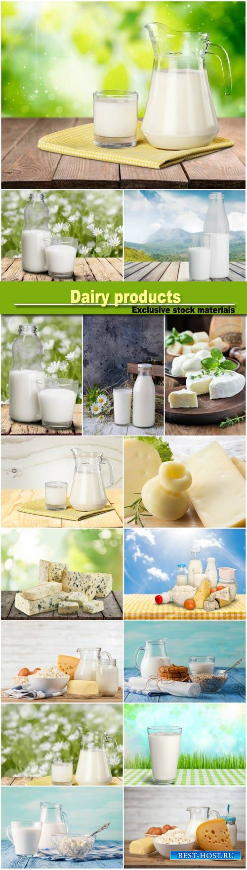 Dairy products, cheese and milk