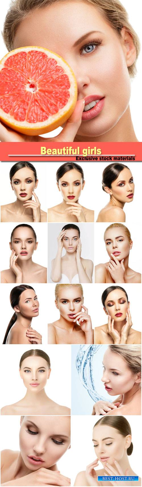Beautiful girls, beauty care, make-up