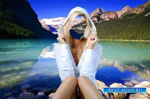 Шаблон для девушек - На красивейшем озере