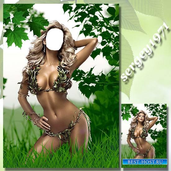 Женский фотошаблон - Лесная нимфа