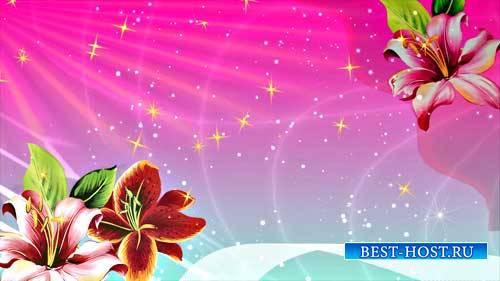 Футаж фона - Цветочное блаженство