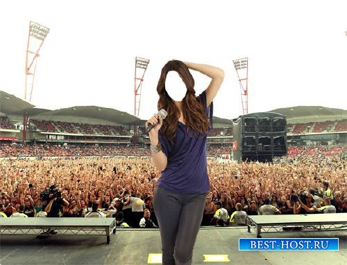 Шаблон женский - Певица на концерте