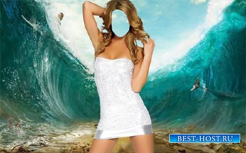 Шаблон для фотошопа - На дне моря