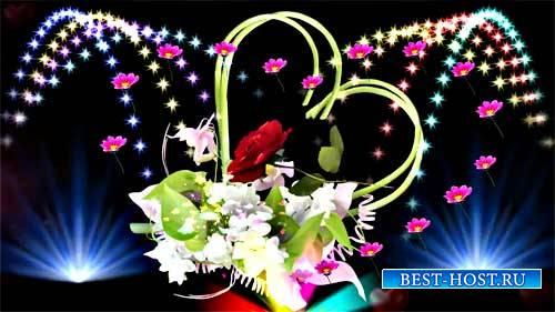 Футаж фона - Красота цветов