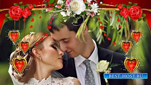 Футажи свадебные - Молодые красивые как цветы