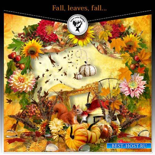 Очаровательный осенний скрап-набор - Осень,падение листьев