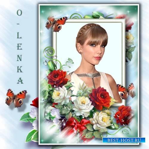 Рамка для фотошопа - Царица цветов