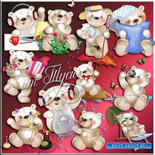 Детский клипарт - Добрый медвежонок