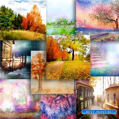 Подборка растровых фонов для дизайна - Золотая осень