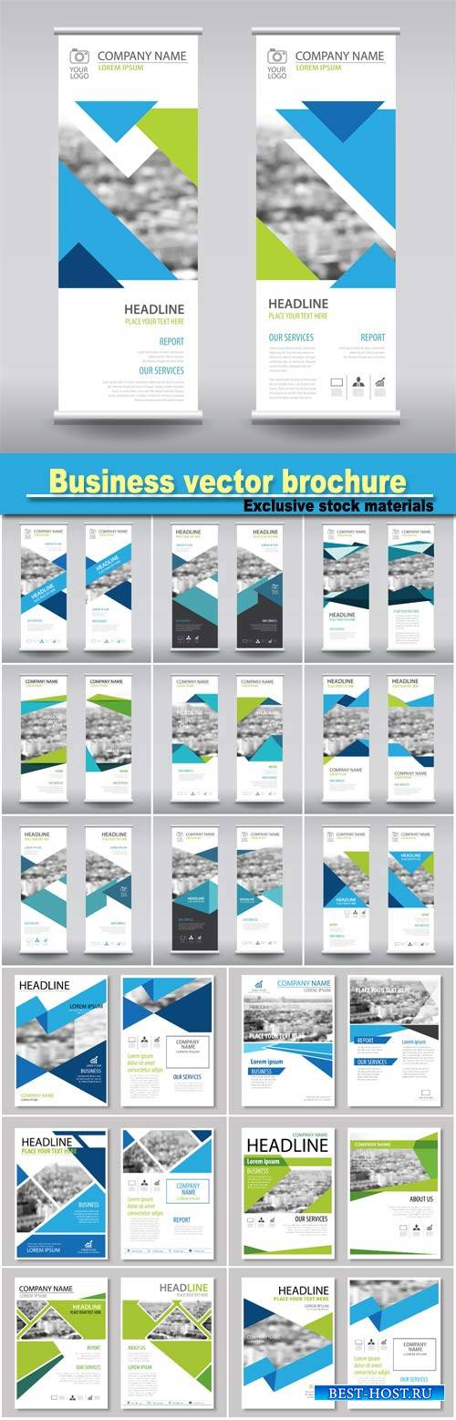 Business brochure flyer banner design vertical template vector