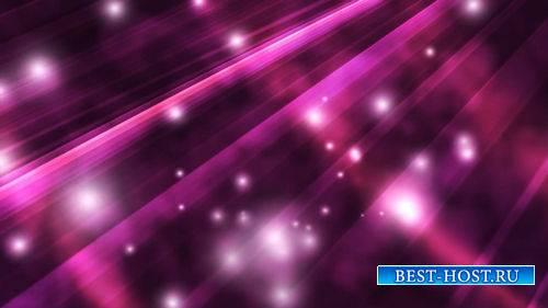 Футаж - Летящие частицы на фиолетовом фоне