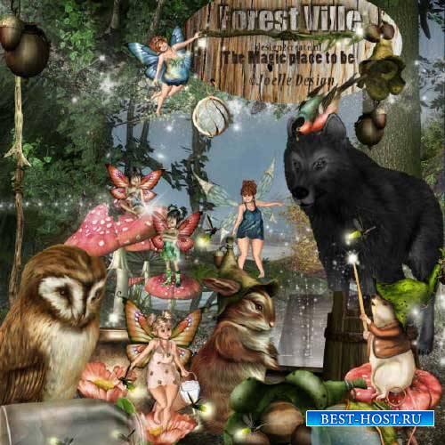 Сказочный скрап-набор - Forest Ville