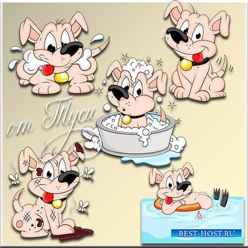 Клипарт - Забавный щенок