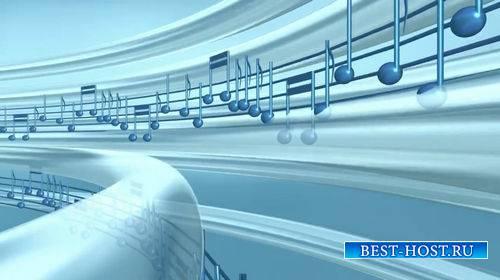 Футаж музыкальный с нотами