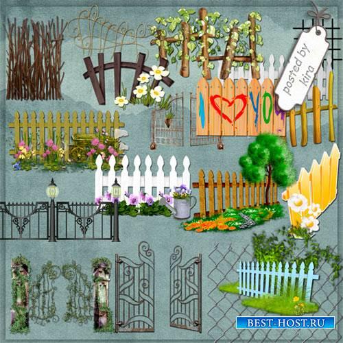 Клипарт - Заборы, ворота