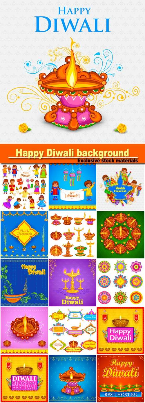Easy to edit vector illustration of decorated diya for Happy Diwali holiday ...