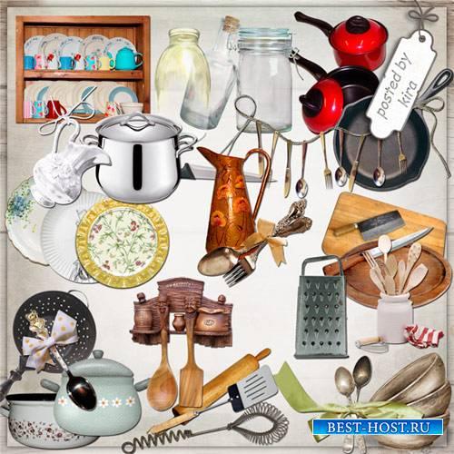 Клипарт - Посуда, столовые приборы и кухонная утварь