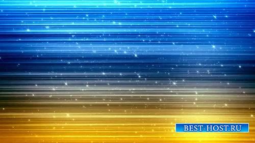 Футаж - Мерцающие частицы на сине-желтом фоне